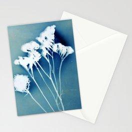 Blue Strawflower Stationery Cards