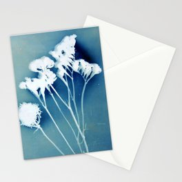 Blue Strawflower Stationery Cards