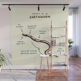 Anatomy of an Earthworm Wall Mural