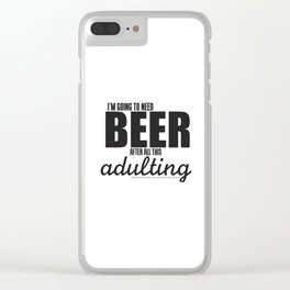 Long Day = Beer Clear iPhone Case