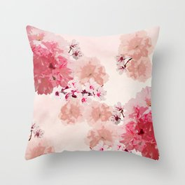 Floral Rage Throw Pillow