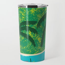 Tropical Island Getaway Travel Mug