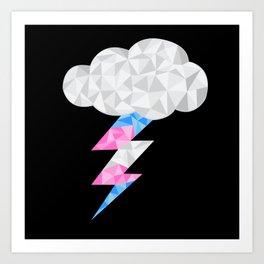Transgender Storm Cloud Art Print