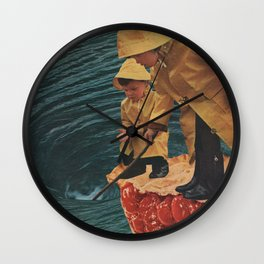 Wear Your Raincoat Wall Clock