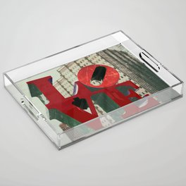 Love Sign Philadelphia Acrylic Tray