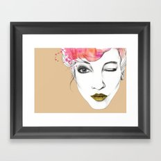 Life is a canvas, throw all the paint and sparkles on it you can Framed Art Print