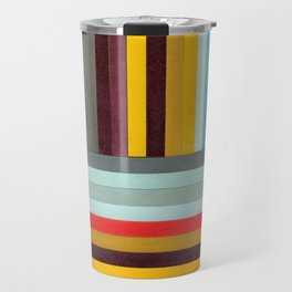 X-Y Axis: Mixed Media Collage Painting Travel Mug