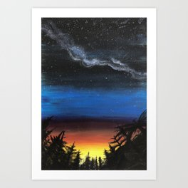 looking into the future Art Print