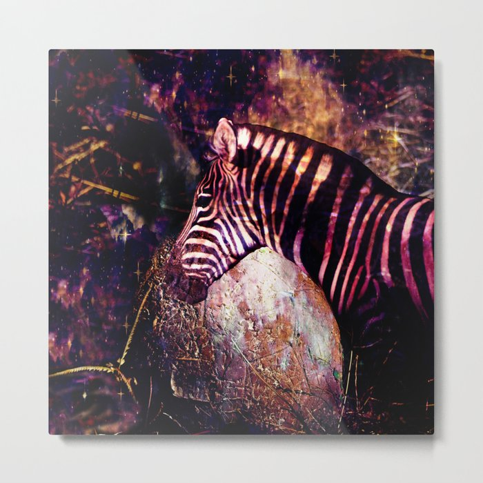 Celestial Zebra of the Equidae Eclipse Metal Print