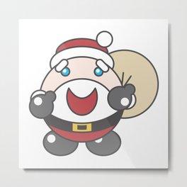 Bubble Santa Metal Print