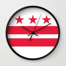 Flag of the District of Columbia - Washington D.C authentic version Wall Clock