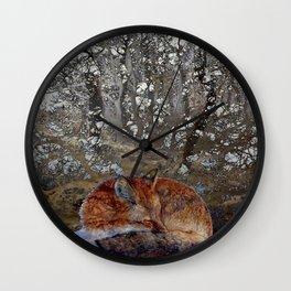 Winter Fox II Wall Clock