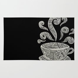 But first, Coffee - tea coffee lover zentangle Rug