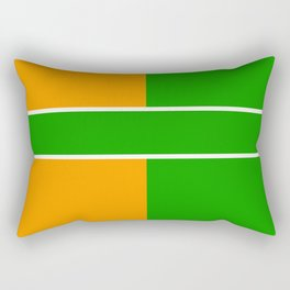 Team Color 6...green,orange Rectangular Pillow