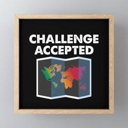 Challenge Accepted Framed Mini Art Print