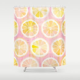 Orange Slices Pastel Fruit Shower Curtain