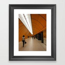 Munich U-Bahn Framed Art Print