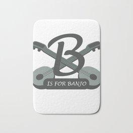 Awesome Banjo's Tshirt Design B is for Banjo Bath Mat