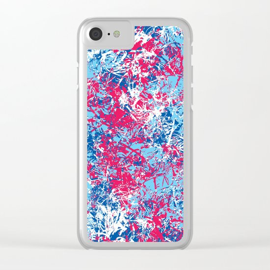 Abstract 4 Clear iPhone Case