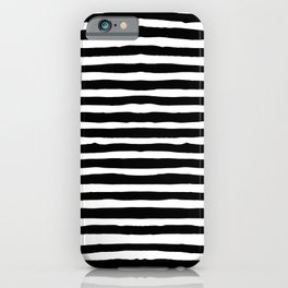 Horizontal Stripes - Black and White iPhone Case