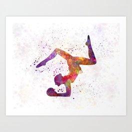 Rhythmoc Gymnastics woman silhouette Art Print