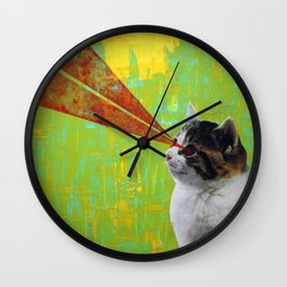 LaserCAT Wall Clock