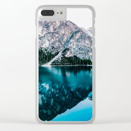 Reflected Peaks Clear iPhone Case