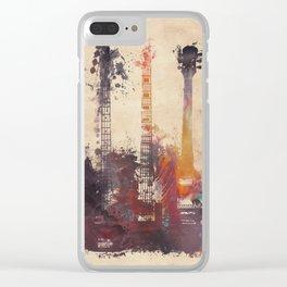 guitars 3 Clear iPhone Case