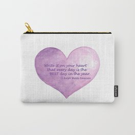 Heart Quote Carry-All Pouch