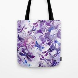 Dragonfly Lullaby in Pantone Ultraviolet Purple Tote Bag