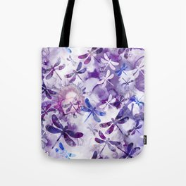 Dragonfly Lullaby in Pantone Ultraviolet Purple Tote Bag