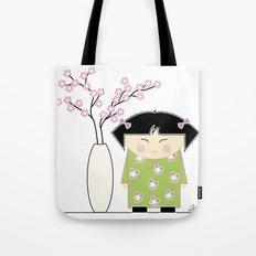 Little Asian Girl Tote Bag