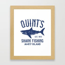 Quint's Shark Fishing - Amity Island Framed Art Print