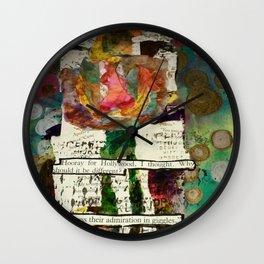 Art journaling Wall Clock
