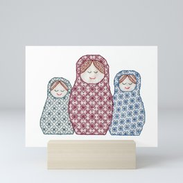 Russian Dolls Mini Art Print