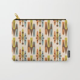 Mid Century Modern Atomic Triangles 334 Carry-All Pouch