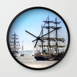 Majestic sailing view, Boston MA Wall Clock