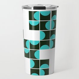 half circle pattern Travel Mug