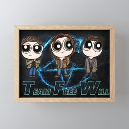 Team Free Will for life Framed Mini Art Print