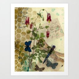 Columbine Love Letters 2 Art Print