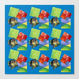 Painted Squares Jiggle - Blue Canvas Print