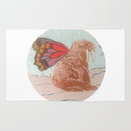 Winged Walrus Rug