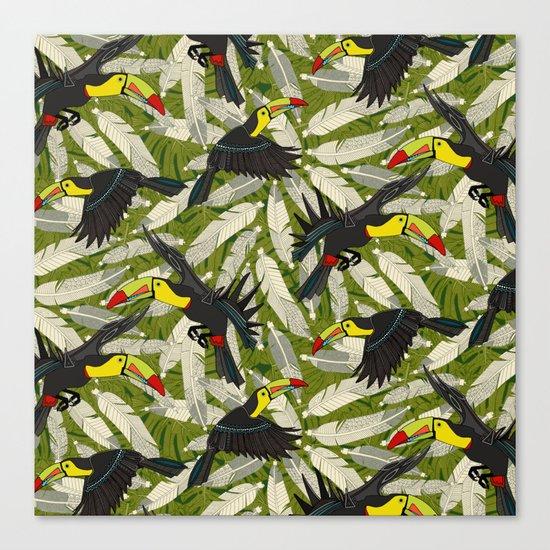 toucan jungle Canvas Print