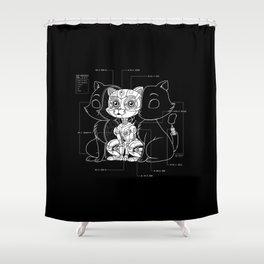 Cat Inside Shower Curtain