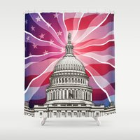 politics Shower Curtains featuring The World of Politics by politics