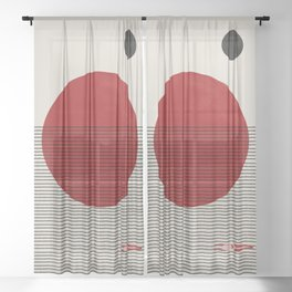 Swimming to you Sheer Curtain