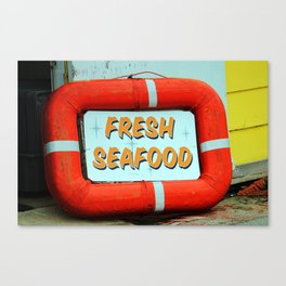 Fresh Local Seafood Canvas Print