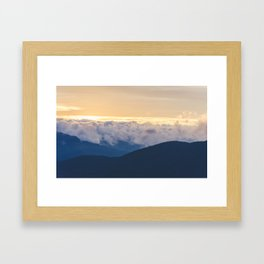 Sunrise in North Georgia Mountains 2 Framed Art Print