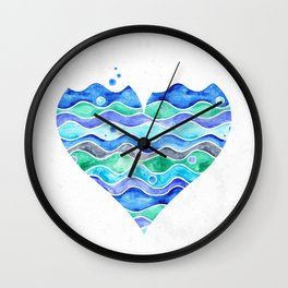 A Sea of Love (white) Wall Clock