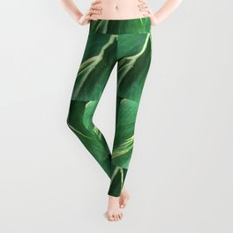 Modern Leaf Tiles Leggings